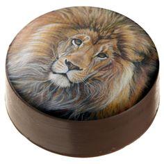 BOLD LION Birthday Treats for Leos! Chocolate Dipped Oreo