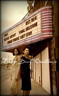 Vintage Fashion Shoot at Old Theatre.  Sisters.