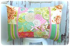Freshcut Decorative Scatter Cushion - Little Girls Room Decor - Shabby Chic Vintage Doilie Trim Pillow
