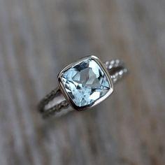 Sky Blue Topaz Ring A Palladium 14k White Gold by onegarnetgirl, $848.00