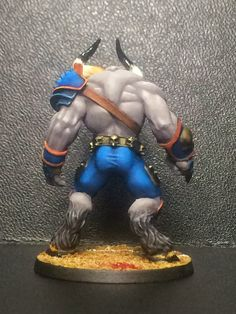JotaGe83minis: Guerreros del Caos y Minotauro para Blood Bowl.