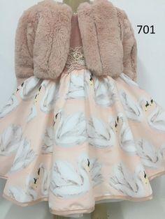 Vestido Anjo D'Agua Moda Infantil 181701A