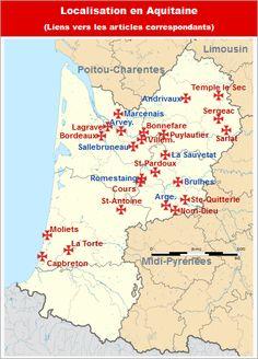 Commanderies templières en Aquitaine, France