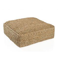 Puf cuadrado suelo fibra natural