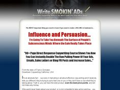 Copywriting Training Franco Gonzalezs How To Write Smokin Ads Copywriting Course. Sports Predictions, Sales Letter, Writing Courses, Beneath The Surface, Online Shopping Websites, Subconscious Mind, Copywriting, Personal Development, Ebooks