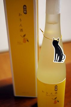 Quince Wine #packaging. love the cat PD
