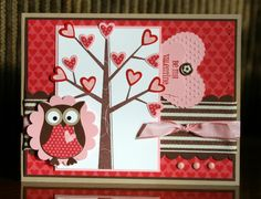 Stampin' Up!  Season Of Friendship  Owl Punch  Krystal De Leeuw Valentine