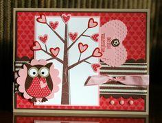 Stampin' Up!  Season Of Friendship  Owl Punch  Krystal De Leeuw Valentine