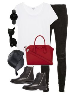 """""""Untitled #2901"""" by theaverageauburn on Polyvore featuring Yves Saint Laurent, Splendid, Givenchy, Ray-Ban and CLUSE"""