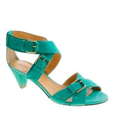 Loving for summer. Praise the walkable heel! (and that suede feels fantastic on bare feet, too).