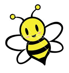 Clipart of a cartoon bee. Clipart illustration by Rosie Piter exclusively for Acclaim Images. Image Clipart, Free Clipart Images, Cartoon Bee, Cute Cartoon, Cartoon Crazy, Honey Bee Cartoon, Penguin Cartoon, Batman Cartoon, Ghost Cartoon