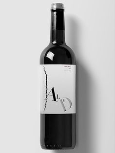 Proyecto de diseño de etiqueta para vinos Alud.