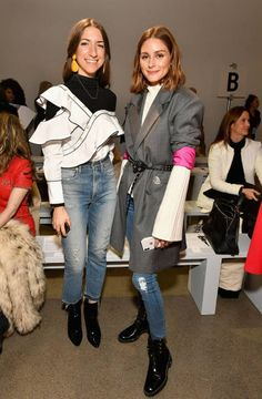 Olivia Palermo attends the Taoray Wang fashion show during New York Fashion Week The Shows at Gallery II at Spring Studios on February 10 2018 in New York