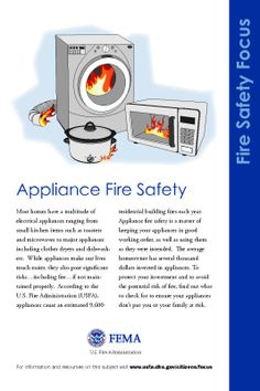 Appliance fire safety