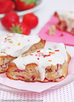 Strawberries And Cream Scones (1) From: Cinnamon Spice And Everything Nice, please visit