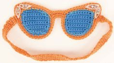 Crocheted Cat-Eye Sleep Mask