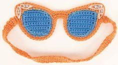 Crocheted Cat-Eye SleepMask
