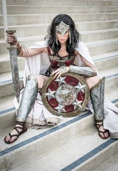 Wow. That is awesome. Wonder Woman cosplay