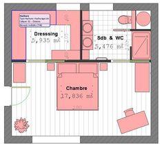 Maison contemporaine à étage avec cuisine ouverte et suite parentale - Plans & maisons