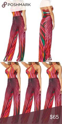 6abdce53821 Fuchsia stripe halter jumpsuit. Rainbow stripe jumpsuit -Brand new Sizes