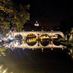 #rome #italy #italia #river #summer #night #tourism #mirror #nice #photography #follow4follow #follow #bridge #tevere #people #instagram #secret #history