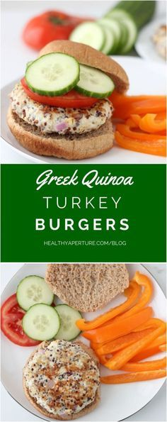 Greek Turkey Quinoa Burgers make a protein-packed dinner.