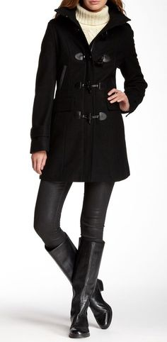 Tommy Hilfiger | Toggle Front Wool Coat......love this look