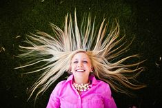 Artfully splay your hair in all its glory. | 47 Brilliant Tips To Getting An Amazing Senior Portrait