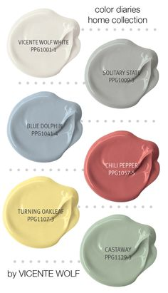 Vicente Wolf Paint Colors by PPG Voice of Color view more at : http://www.ppgvoiceofcolor.com/collections/vicente-wolf#vicente-wolf