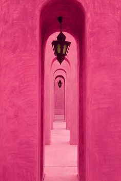 Pink arches in Dubai