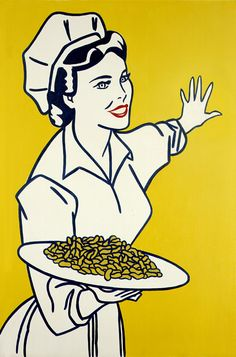 ROY LICHTENSTEIN (1923-1997): Woman with Peanuts, 1962