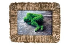 handcrocheted  framewall decordouble face and by TZIZcornize, €19.90