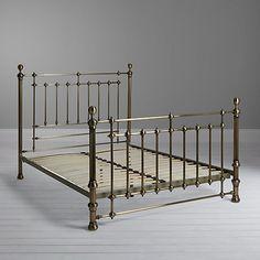 Buy John Lewis Lansbury Bed Frame, King Size from our View All Design range at John Lewis & Partners. Brass Bed, King Size Bed Frame, Bed Styling, King Beds, Victorian Fashion, John Lewis, Bedding Sets, Mattress, Toddler Bed