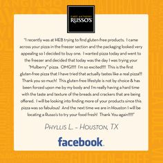 #RussosReview We are truly touched, Phyllis. Thank you again for sharing your Russo's experience with us!