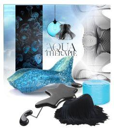 """Aqua Therapie"" by struga-art-80 ❤ liked on Polyvore featuring interior, interiors, interior design, home, home decor, interior decorating, Anja, NOVICA, Slamp and Fatboy"