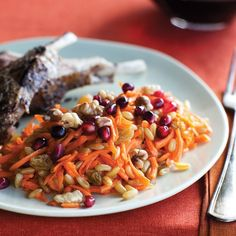 Across the Middle East, cinnamon is used not only to highlight the flavor of sweets but also in savory dishes—as in this Moroccan-inspired carrot salad. I toss it here with slender Kamut berries, which contribute their distinct buttery chew. Vibrantly colorful and deliciously juicy, this salad steals the show on my holiday table. Try it also next to steak, grilled lamb, or a simple roast chicken.