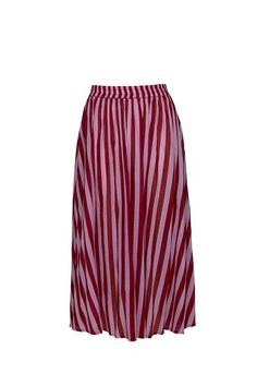 THE BAY COTTON SKIRT - Whippy Stripe Red/Pink – State of Georgia
