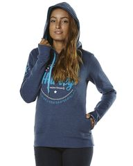 HURLEY FREEDOM CO WOMENS POP HOOD FLEECE - HEATHER QUARTZ