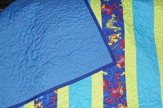 15% Off With Coupon Code SAVE15 Crib Quilt, Baby Quilt, Boy Quilt, Blue, Green and Teal Quilt, Dragon Print Quilt - pinned by pin4etsy.com