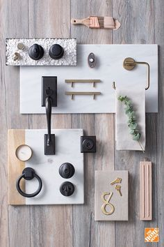 Changing out something as small as door knob and door lock hardware can make a surprisingly big impact on your home's style. Here, we created a high-contrast, mixed-metal look by pairing complementary light Champagne bronze finishes with darker Venetian bronze finishes. Visit our blog to learn more about on-trend decorative hardware styles.