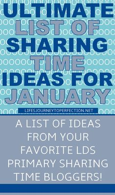 ULTIMATE LIST OF SHARING TIME IDEAS FOR JANUARY! ONE STOP FOR ALL YOUR SHARING TIME NEEDS