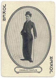 - Joker Charlie Chaplin as Charlot / Vintage Playcard Joker Playing Card, Joker Card, Unique Playing Cards, Vintage Playing Cards, Jokers Wild, Joker Pics, Charlie Chaplin, Football Cards, Deck Of Cards