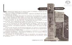 Señalizador YPF-DPN, Indicador de caminos, RN 40 Sur, Acceso a los Rápidos (Para Solas del Pueblo, Obra Publica Cultural y Turística realizada en los Parques Nacionales, Año 1938)