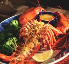 Recipe: Red Lobster's Roasted Maine Lobster with Crabmeat Stuffing Ingredients STUFFING: 1 pound blue crab meat 1 teaspoon shallot, minced 1 teaspoon parsley 1 tablespoon mayonnaise 1 tablespoon bread crumbs 1 whole egg 1 teaspoon lemon juice 1/8 teaspoon Worcestershire LOBSTER: 2 whole Maine lobsters 1 stick butter, … … Continue reading →