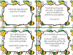 Cartes autocorrectives pour comprendre l'implicite - CE1 Autism Education, Education Quotes, Text To Text Connections, Cycle 3, Teaching French, Logo Inspiration, Told You So, Classroom, Positivity