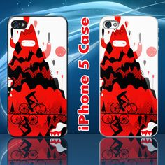 Unique This Way Up Mountain Bike Custom iPhone 5 Case Cover