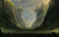 Through the ancient valley by Blinck http://blinck.deviantart.com/art/Through-the-ancient-valley-188917591