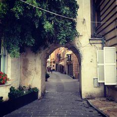 Ligurian Caruggio (tiny street). Rapallo, North Italy.