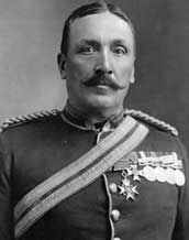 Major General Sir Samuel Benfield Steele, KCMG, CB, MVO (5 January 1848 – 30 January 1919) was a distinguished Canadian soldier and police official. He was an officer of the North-West Mounted Police, most famously as head of the Yukon detachment during the Klondike Gold Rush, and commanding officer of Strathcona's Horse during the Boer War.