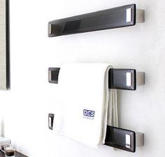 DC Short Lava Charcoal Heated Towel Rail